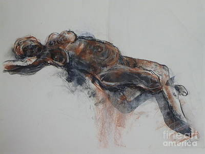 Painting - Lying Nude 2 by Donna Acheson-Juillet