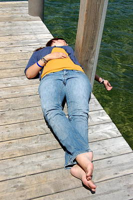 Photograph - Lying On The Dock by Tamyra Crossley