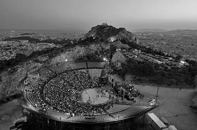 Theatre Photograph - Lycabettus Hill by George Atsametakis