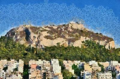 Greek Painting - Lycabettus Hill During Sunset by George Atsametakis