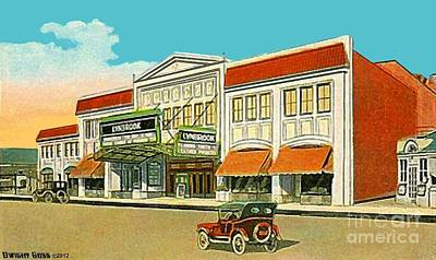 Painting - Lynbrook Vaudeville Theatre In Lynbrook Long Island N Y by Dwight Goss