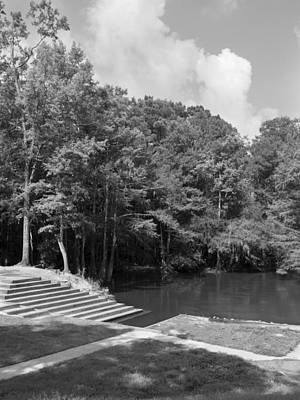Photograph - Lynches River Canoe Launch In Summertime Greyscale by MM Anderson