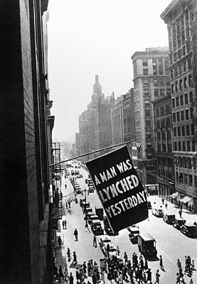 Lynching Banner, C1925 Print by Granger