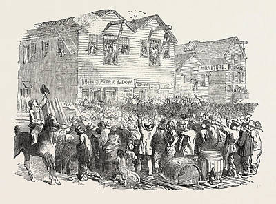 Lynching In San Francisco Print by American School