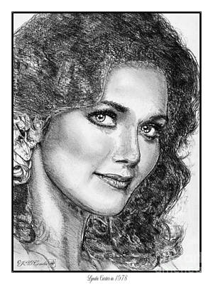 Drawing - Lynda Carter In 1978 by J McCombie