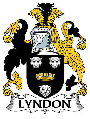 Lyndon Digital Art - Lyndon Coat Of Arms Irish by Heraldry