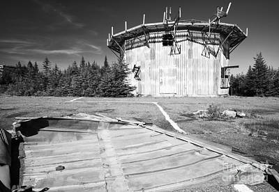 Abandoned Military Bases Photograph - Lyndonville Air Force Station - East Mountain East Haven Vermont by Erin Paul Donovan