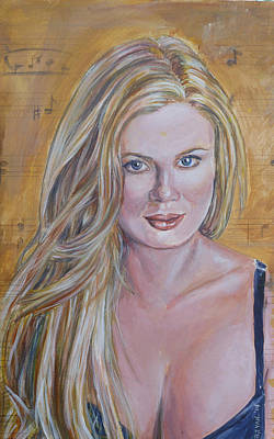 Painting - Lynn Carey Saylor by Bryan Bustard