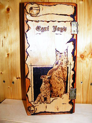 Lynx And Cubs Original by Egri George-Christian
