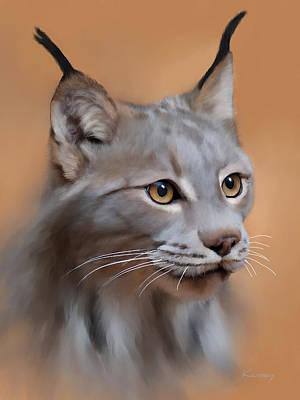 Lynx Portrait Art Print