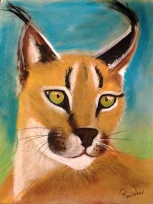 Pastel - Lynx by Renee Michelle Wenker