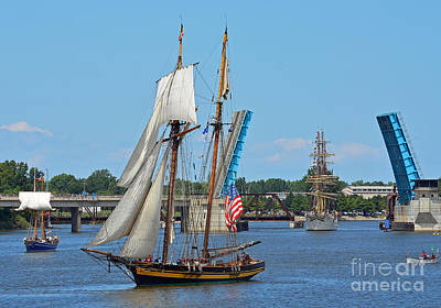 Photograph - Lynx Topsail Schooner by Rodney Campbell
