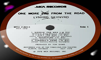 Artist Working Photograph - Lynyrd Skynyrd - One More For From The Road - Side 1 by Marcello Cicchini
