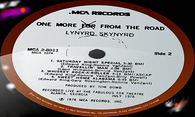 Artist Working Photograph - Lynyrd Skynyrd - One More For From The Road - Side 2 by Marcello Cicchini