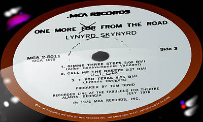 Artist Working Photograph - Lynyrd Skynyrd - One More For From The Road - Side 3 by Marcello Cicchini