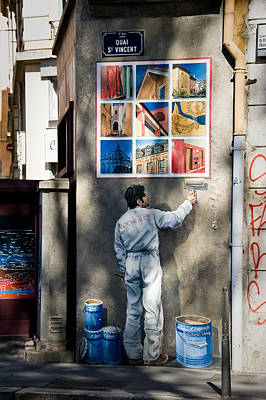 Lyon Fresque Art Print by Oleg Koryagin