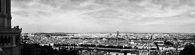 Photograph - Lyon From The Basilique De Fourviere-bw by Paulette B Wright