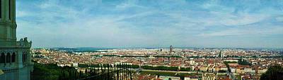 Photograph - Lyon From The Basilique De Fourviere-color by Paulette B Wright