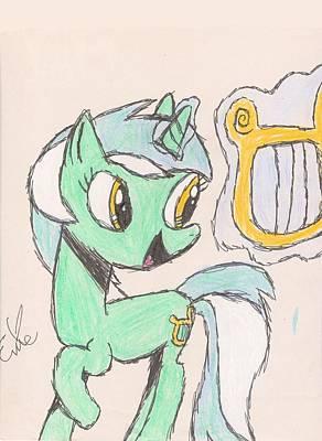 My Little Pony Drawing - Lyra Heartstrings by Rhapsody Forever