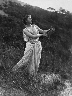 Justine Photograph - Lyre Player, C1873 by Granger