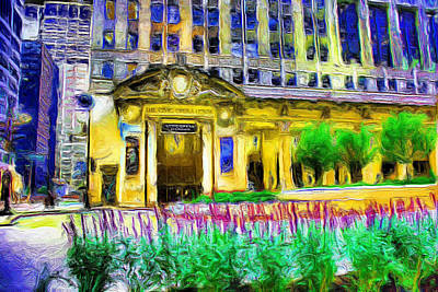 Lyric Opera House Of Chicago Art Print by Ely Arsha