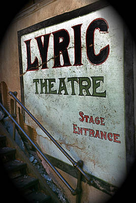 Bringing The Outdoors In - Lyric Theater wall sign Bisbee Arizona 1967 by David Lee Guss
