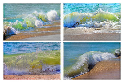 Lyrical Literacy Of Waves Art Print by Betsy Knapp