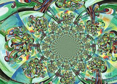 Abstract Movement Digital Art - Lyrical Tree Mandela by Genevieve Esson