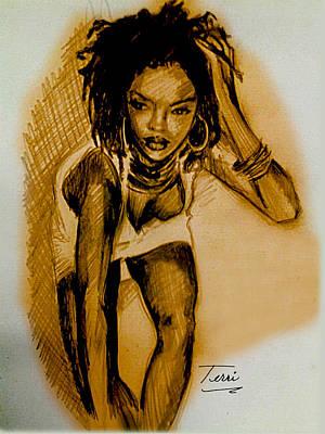 Hip Drawing - Lyricist by Terri Meredith