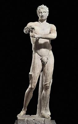 Statue Portrait Photograph - Lysippus C. 370-318 Bc. Apoxyomenos by Everett