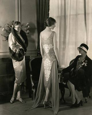 Curtains Photograph - Lyssie Pero by Edward Steichen