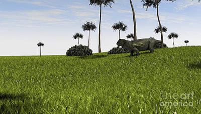 Digital Art - Lystrosaurus In A Grassy Field by Kostyantyn Ivanyshen