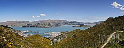 Canterbury Wall Art - Photograph - Lyttelton Port Panorama Canterbury New Zealand by Colin and Linda McKie