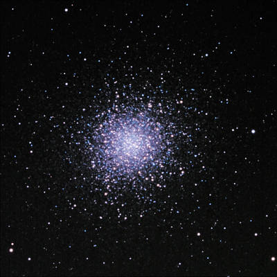 Photograph - M 13-- A Globular Cluster In The Constellation Hercules  by Alan Vance Ley