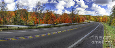 Backroad Photograph - M-22 In Fall by Twenty Two North Photography