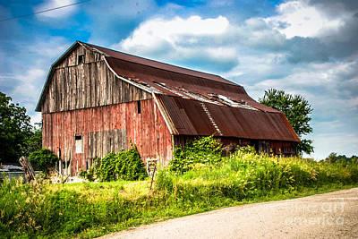 Photograph - M-99 Barn by Grace Grogan