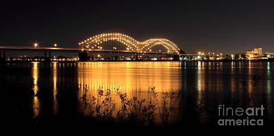 The Hernando De Soto Bridge M Bridge Or Dolly Parton Bridge Memphis Tn  Art Print by Reid Callaway