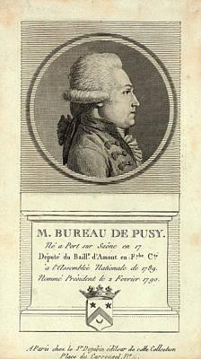 M. Bureau De Pusy Né A Port Sur Saône En 17 Art Print by Litz Collection