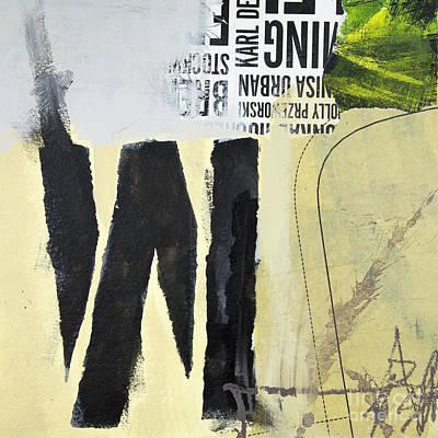 Line Work Mixed Media - M by Elena Nosyreva