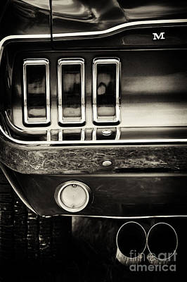 Exhaust Pipe Photograph - M For Mustang by Tim Gainey
