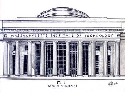 Drawing - M I T by Frederic Kohli