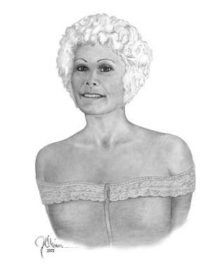 Drawing - M In Lace by Joe Olivares