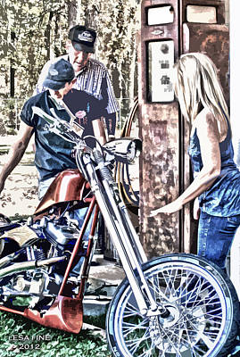Photograph - M Is For Motorcycle And Shes Cheap On Gas by Lesa Fine