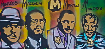 Dr. Martin Luther King Jr Painting - M Is The Magic Letter by Tony B Conscious