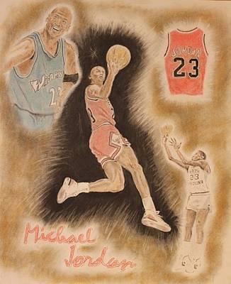Michael Jordan Portrait Painting - M J by Michael McGrath