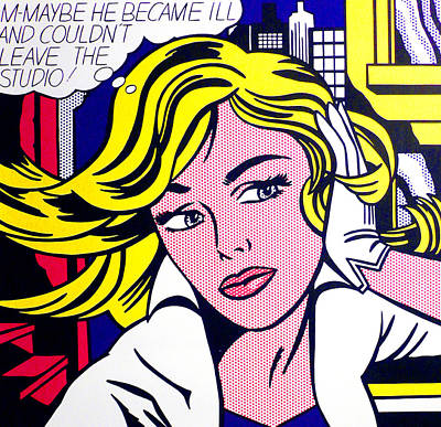 Red Photograph - M-maybe by Doc Braham - In Tribute to Roy Lichtenstein