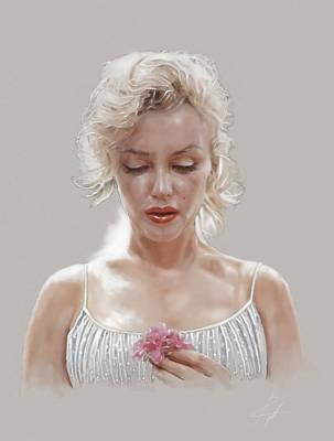 1960 Mixed Media - Marilyn Monroe by  Gerald Piggott