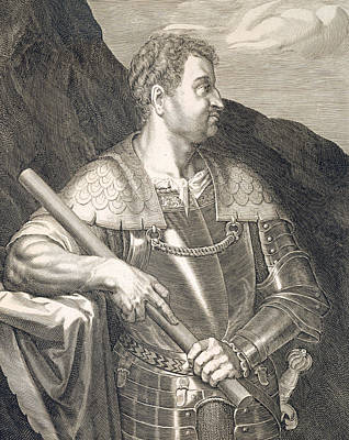 Following Painting - M Silvius Otho Emperor Of Rome by Titian