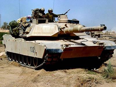 M1 Abrams Tank Desert Camouflage  Art Print