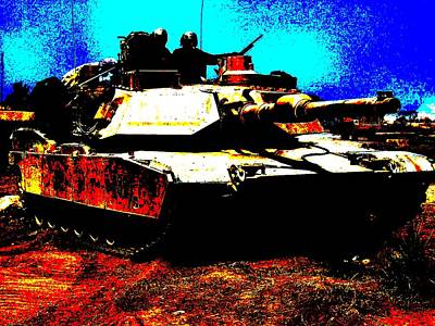 M1 Abrams Tank Enhanced Art Print